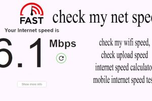 check my net speed