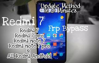 bypass frp redmi 7 | unlock frp redmi 7