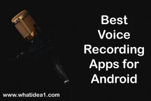 Best Voice Recording App