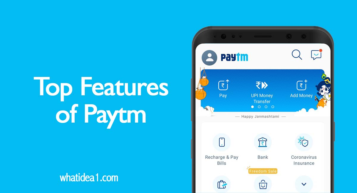 Top Features of Paytm