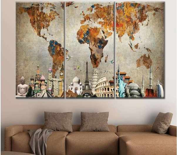 On Decorating Blank Walls with Wall Arts